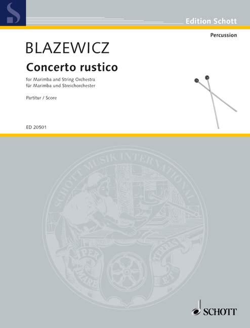Concierto Rustico Rustico Rustico blazewicz, Marcin conjunto de piezas marimba y orquesta de cuerdas 9 79a334